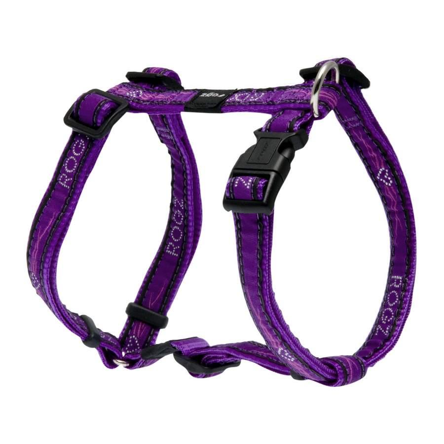 Rogz Fancy Dress Scooter Dog Harness Medium Purple Chrome