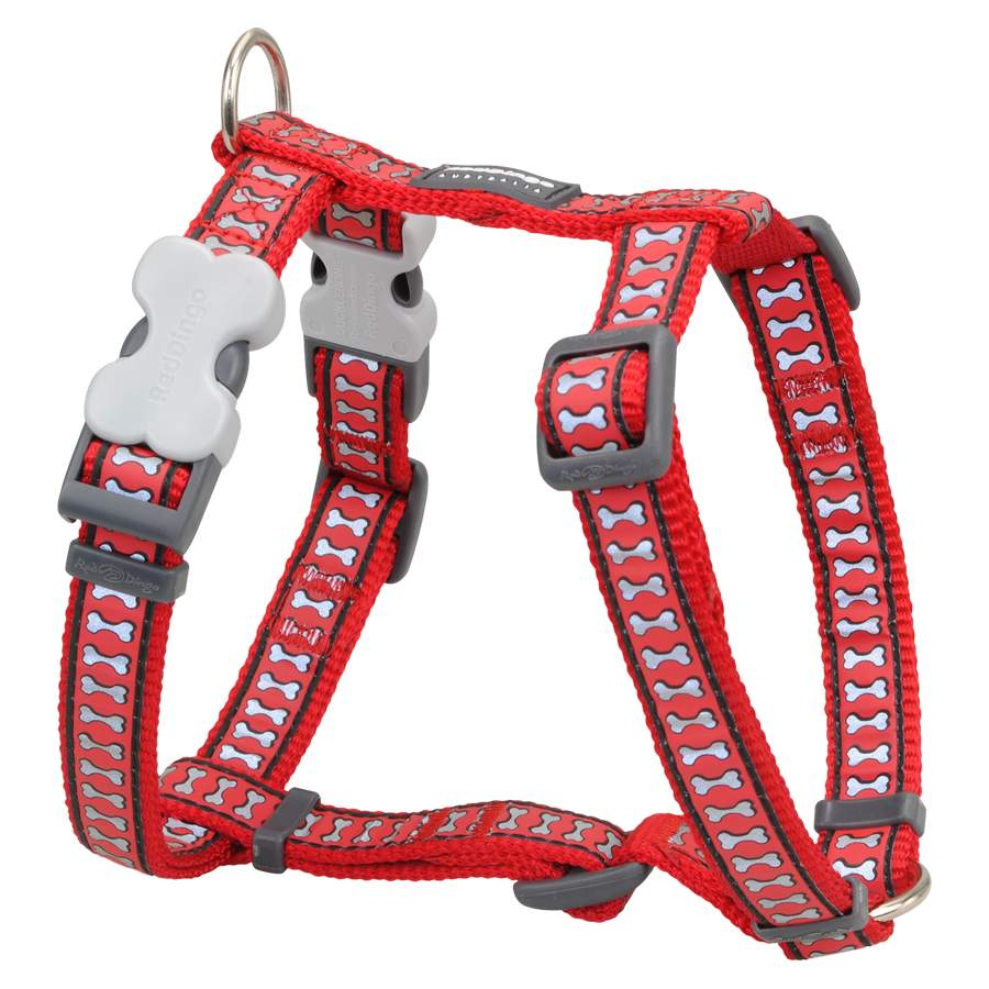 Red Dingo Reflective Red Dog Lead 100
