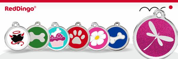 Red Dingo dog ID tag