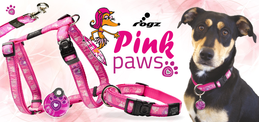 Rogz Pink Paws ind it