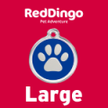 Red Dingo Dog ID Tag Large