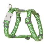 Red Dingo Reflective Ziggy Green Medium Dog Harness