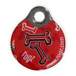 Rogz id-Tag Red Bones 27mm