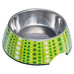 Red Dingo dog bowl Large Lotzadotz Lime