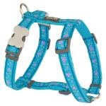 Red Dingo Butterfly Turquoise Small Dog Harness