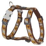 Red Dingo Monty Brown Medium Dog Harness