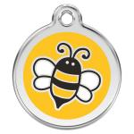 Red Dingo Dog ID Tag Bumble Bee Yellow Medium - NEW