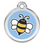 Red Dingo Dog ID Tag Bumble Bee Light Blue Medium - NEW