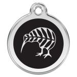 Red Dingo Dog ID Tag Kiwi Black Large