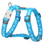 Red Dingo Snowflake Turquoise Large Dog Harness