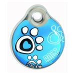 Rogz id-Tag Turquoise Paw 27mm