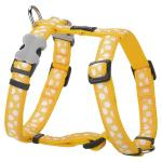 Red Dingo White Spots Yellow Large Dog Harness