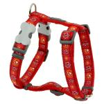 Red Dingo Paw Impressions Red Medium Dog Harness