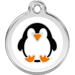 Red Dingo Dog ID Tag Penguin Large