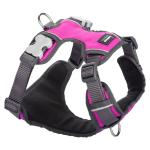 Red Dingo Padded dog harness Medium Hot Pink