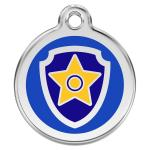 Red Dingo Dog ID Tag Paw Patrol Chase Small