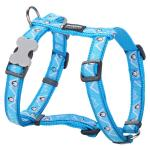 Red Dingo Penguin Turquoise Large Dog Harness