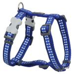 Red Dingo Reflective Dark Blue Medium Dog Harness