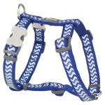 Red Dingo Reflective Ziggy Dark Blue Medium Dog Harness