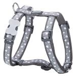 Red Dingo Stars Grey Small Dog Harness