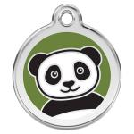 Red Dingo Dog ID Tag Panda Medium