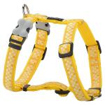Red Dingo Gingham Yellow Small Dog Harness