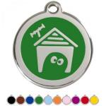 Red Dingo Dog ID Tag Dog House Medium