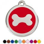 Red Dingo Dog ID Tag Dog Bone Medium