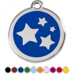 Red Dingo Dog ID Tag Stars Medium