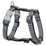 Red Dingo Reflective Black XS Dog Harness