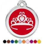 Red Dingo Dog ID Tag Crown Small