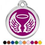 Red Dingo Dog ID Tag Angel Wings Medium