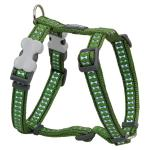 Red Dingo Reflective Green Large Dog Harness