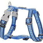 Red Dingo Reflective Medium Blue Large Dog Harness
