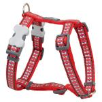 Red Dingo Reflective Red Medium Dog Harness