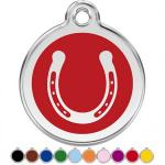 Red Dingo Dog ID Tag Horseshoe Medium