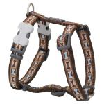 Red Dingo Bone Yard Brown XS Dog Harness