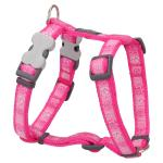 Red Dingo Paw Impressions Hot Pink Medium Pettorina per cani