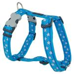 Red Dingo Stars Turquoise Large Dog Harness