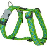 Red Dingo Stars Lime Large Dog Harness