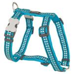 Red Dingo Reflective Turquoise Medium Dog Harness