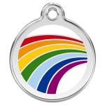 Red Dingo Dog ID Tag Rainbow Small