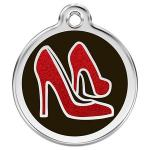 Red Dingo Dog ID Tag Red Shoes Medium