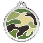 Red Dingo Dog ID Tag Camouflage Green Medium - NEW