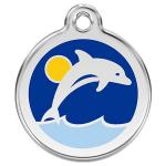 Red Dingo Dog ID Tag Dolphin Large