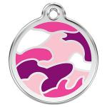 Red Dingo Dog ID Tag Camouflage Pink Large - NEW