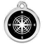 Red Dingo Dog ID Tag Compass Large