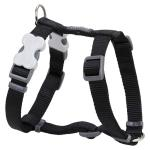 Red Dingo Black Small Dog Harness
