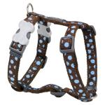 Red Dingo Blue Spots Brown Small Dog Harness