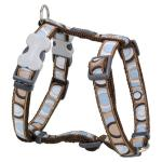 Red Dingo Circadelic Brown Small Dog Harness